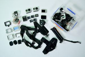 2 Gopro 4 blacks with monitors and accessories for Sale in Los Angeles, CA