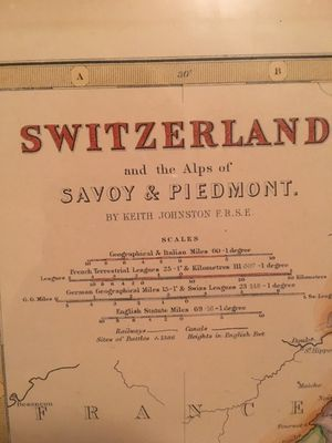 Antique framed map of Switzerland for Sale in New York, NY