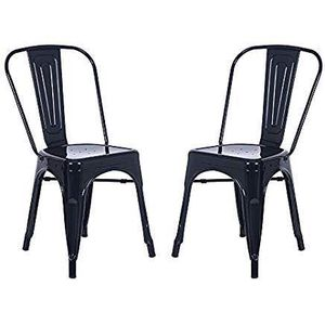 POLY & BARK Trattoria Side Chair in Flat Black (Set of 2) for Sale in Cleveland, OH