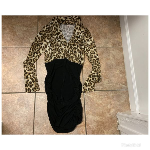 Small , fashion nova cheetah me down dress