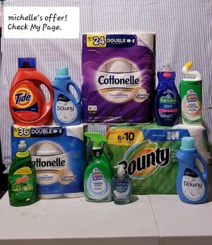 Bounty/Cottonelle/Gain/Scrubbing bubbles/Palmolive/Tide/Downy set for Sale in Temple Hills, MD