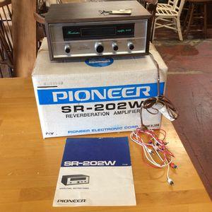 Vintage Pioneer SR-202W Reverberation Amplifier In Box! for Sale in Mendon, MA
