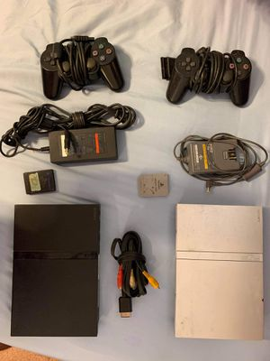 Two PS2. Two memory cards. Two controllers. for Sale in Las Vegas, NV