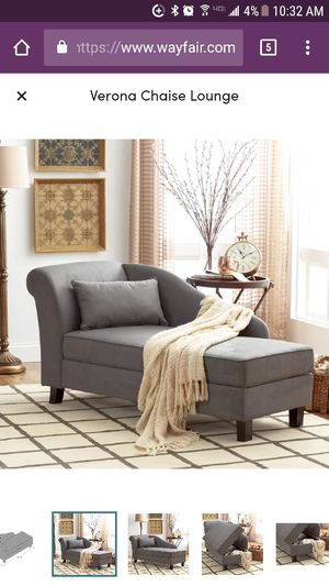 Gray chaise lounge chair for Sale in Rockville, MD