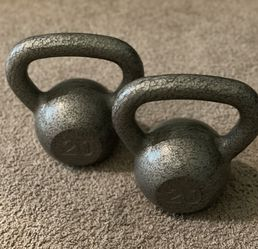 (2) 20 Pound Kettle Bell Weights for Sale in Katy,  TX