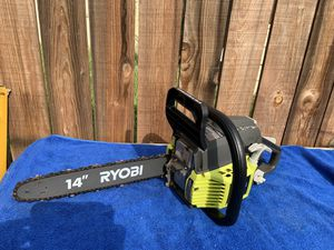 Ryobi Gas Chainsaw-2cycle-14 inch for Sale in San Bernardino, CA