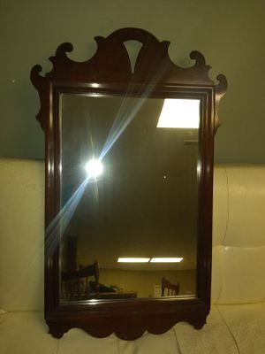 Antique Mahogany mirror by Lammerts fine furnishings for Sale in St. Louis, MO