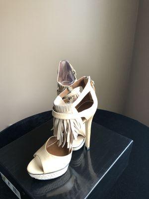 Boutique9 Fringe Open Toe Heels for Sale in Lawrence Township, NJ