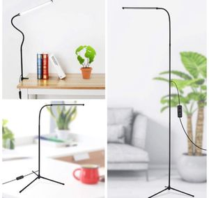 NEW! LED Floor Lamp, 3-in-1 Dimmable Standing Lamp Desk Lamp with C-Clamp and Tripod Base Eye-Care Energy Saving Reading Lamp with Flexible Gooseneck for Sale in Stuart, FL
