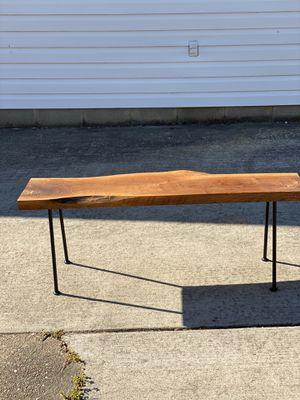 Wild cherry slab bench for Sale in Chesapeake, VA