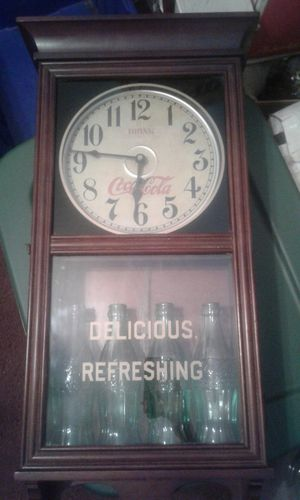 Antique Coca~Cola Collectible Wall Clock w/ bottles $175 obo..... for Sale in Pegram, TN
