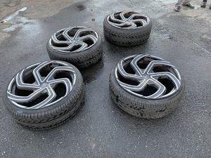 """4ea 24"""" Lexani Wheels Swift Gloss Black Machined Rim for Sale in Alameda, CA"""