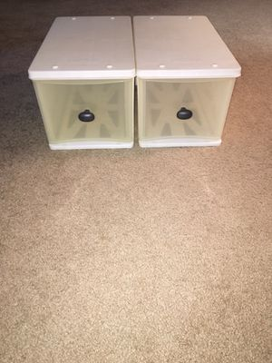 Stackable plastic organizer drawers for Sale in Bethesda, MD