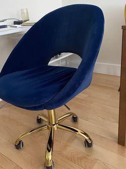 Navy blue Velvet Desk Chair for Sale in Brooklyn,  NY
