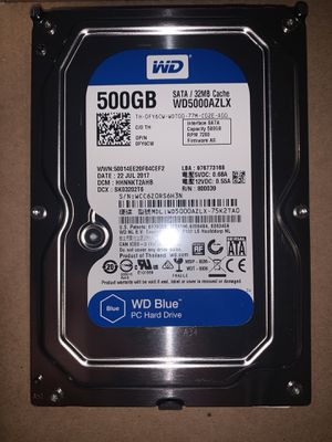 Western Digital Blue 500GB Hard Drive for Sale in Topeka, KS