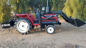 Farm tractor 23 hp with new 5ft loader for Sale in Perris, CA