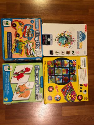 Puzzles pegboard moonlite lot for Sale in Sunnyvale, CA