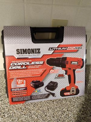 SIMONIZ Lithium 20V Max Cordless Drill (BRAND NEW) for Sale in Wilkes-Barre, PA