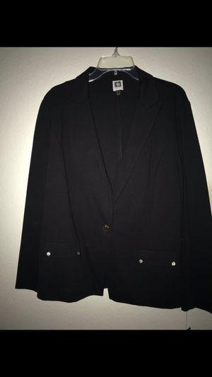 Women's ANE KLEIN Jacket SIZE XL,black for Sale in Riverside, CA
