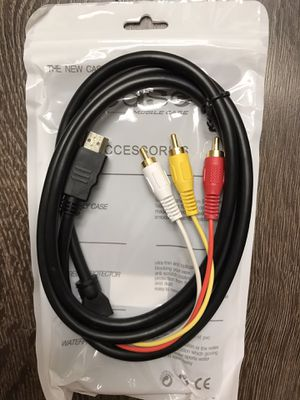 1080P HDMI Male to 3 RCA S-video AV Audio Cable Cord Adapter for TV HDTV DVD for Sale in Alhambra, CA