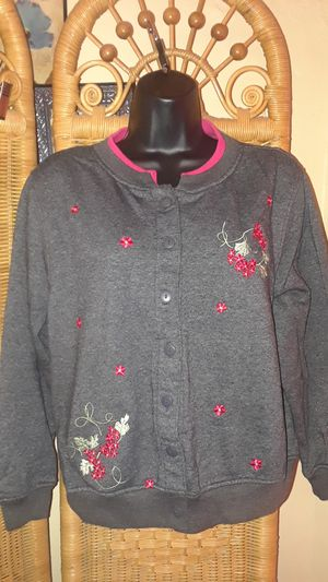 Shenanigans gray women's size petite cardigan sweater for Sale in MIDDLE CITY WEST, PA