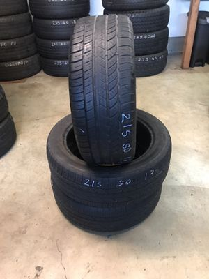 215/50/17. Tires 60% tread mixed for Sale in King City, OR