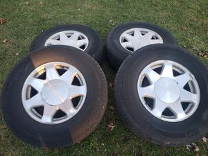 Chevy gmc cadillac wheels and tires for Sale in Aurora, IL