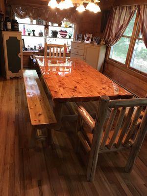 Log dining table for Sale in Barnegat Township, NJ
