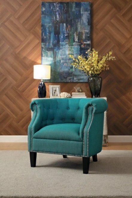 🌲Homelegance Karlock Teal Accent Chair
