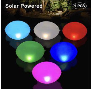 "Solar Floating Pool Lights Inflatable 1 PCS, 17"" IP68 Waterproof Egg Solar Light, Outdoor Color Changing LED Pond Lights, Hangable Night Lights for P for Sale in Orlando, FL"