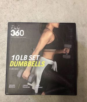 10 LB Dumbbell set for Working Out at Home and Weight Lifting for Sale in Evergreen Park, IL