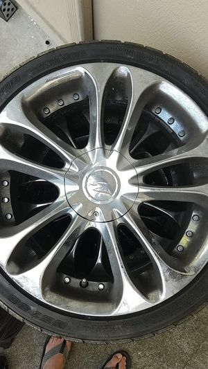 18 inch Chrome rims with tires for Sale in Piedmont, CA