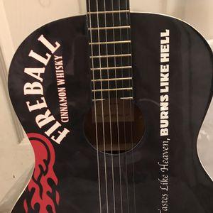 Fireball Cinnamon Whiskey Guitar Full Size Black/Red for Sale in Orange, CA