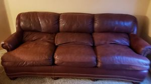 Brown leather couch for Sale in El Mirage, AZ
