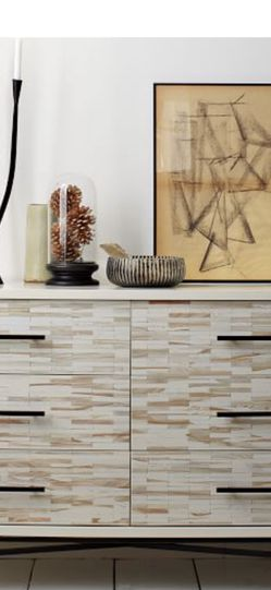 West Elm White Wood Tiled Nightstands and Dresser for Sale in Beverly Hills,  CA