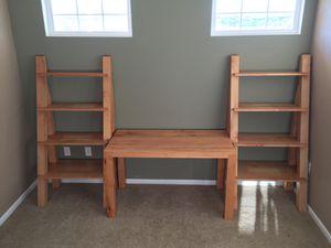 Custom solid maple desk and bookshelves for Sale in Parker, CO