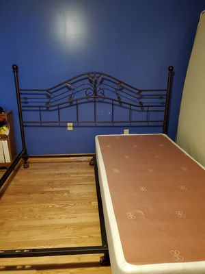 King sized headboard and bed frame, with or without split box spring for Sale in North East, PA
