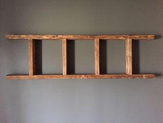 Rustic Handmade Ladder {wall mounted shelf} for Sale in Bartlett,  IL