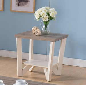 Grace End Table, Ivory AND Dark Taupe , SKU # 161602ET for Sale in Fountain Valley, CA