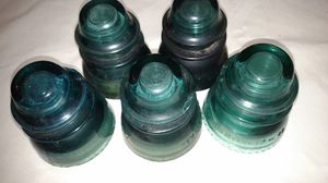 Hemingray 42 antique blue glass insulators for Sale in BAYVIEW GARDE, IL