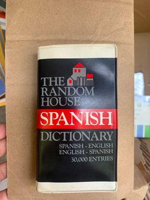 The Random House Spanish Dictionary for Sale in Sacramento, CA