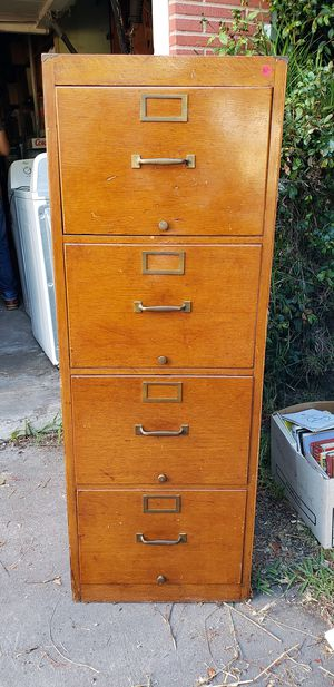 Antique wood file cabinet for Sale in Chula Vista, CA