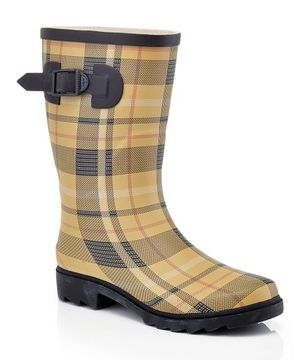 Yellow & Black Plaid Rain Boot - Women's Size 9 for Sale in Bakersfield, CA