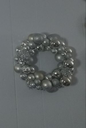 Handmade elaborate silver wreath for Sale in Sterling, VA