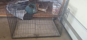 Large dog cage and igloo. $140 for both. OBO for Sale in Hesperia, CA