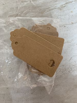 Favor tags with hear cutout with burlap wedding favor bucket for Sale in Salt Lake City, UT