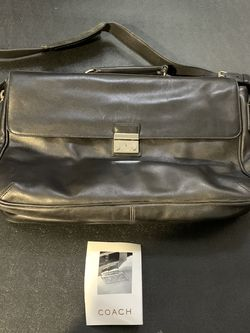 coach Black leather messenger briefcase bag Large Unisex for Sale in Walnut,  CA