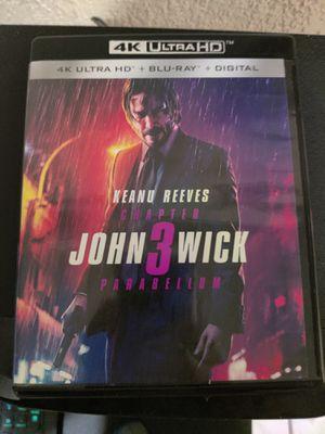 Brand New 4K UHD/Blu-Ray/Digital DL Movie: John Wick 3 Parabellum for Sale in San Diego, CA
