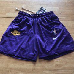 Brand new Nike LA Lakers reversible shorts purple black dry men's size small S for Sale in El Cajon, CA