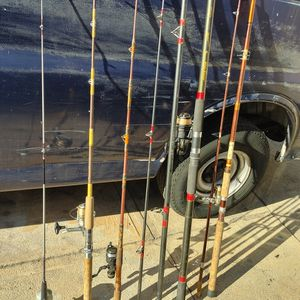 Fishing Rods With Reels/ Rods In Good Condition Different Sizes Different Prices for Sale in Alhambra, CA